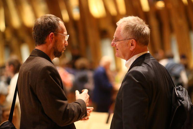 Interessante Gespräche und Austausch nach dem IBA-Talk