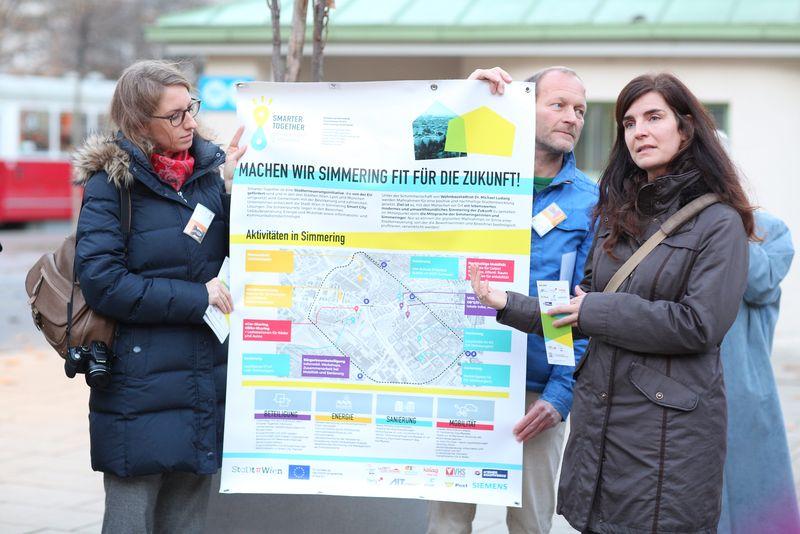 Julia Girardi-Hoog: IBA-Talk Bestandsentwicklung und Stadterneuerung-Tour durch das Projetkgebiet von Smarter Totgether in Wien - Simmering www.smartertogether.at