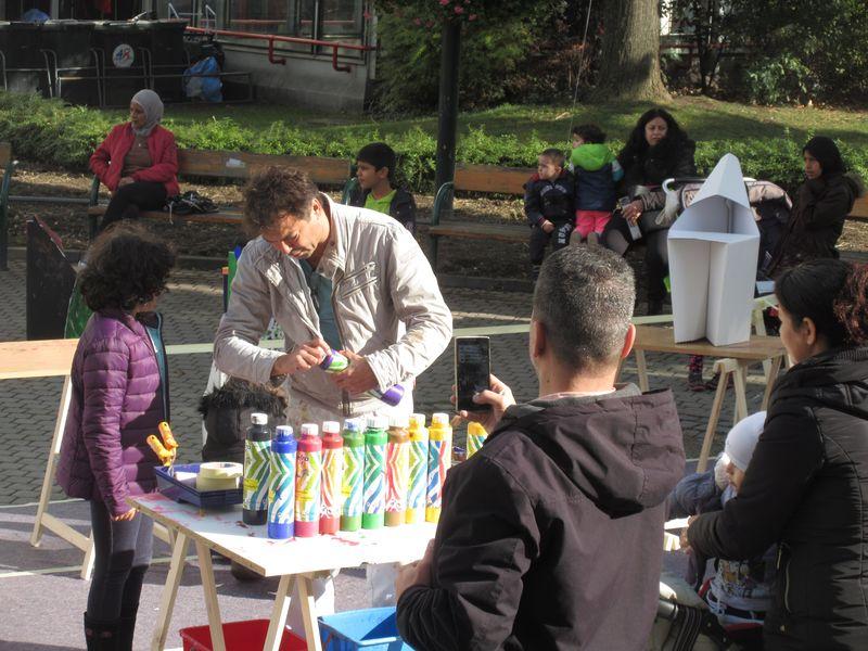 Kinder Aktionskunst