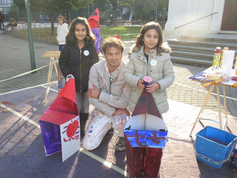 Aktionskunst Kinder