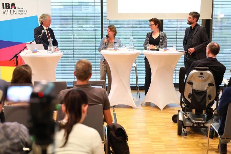 Podium: Norbert Wendrich, Daniela Strassl und Beatrice Stude